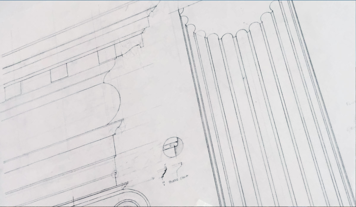 Classical detail drawing